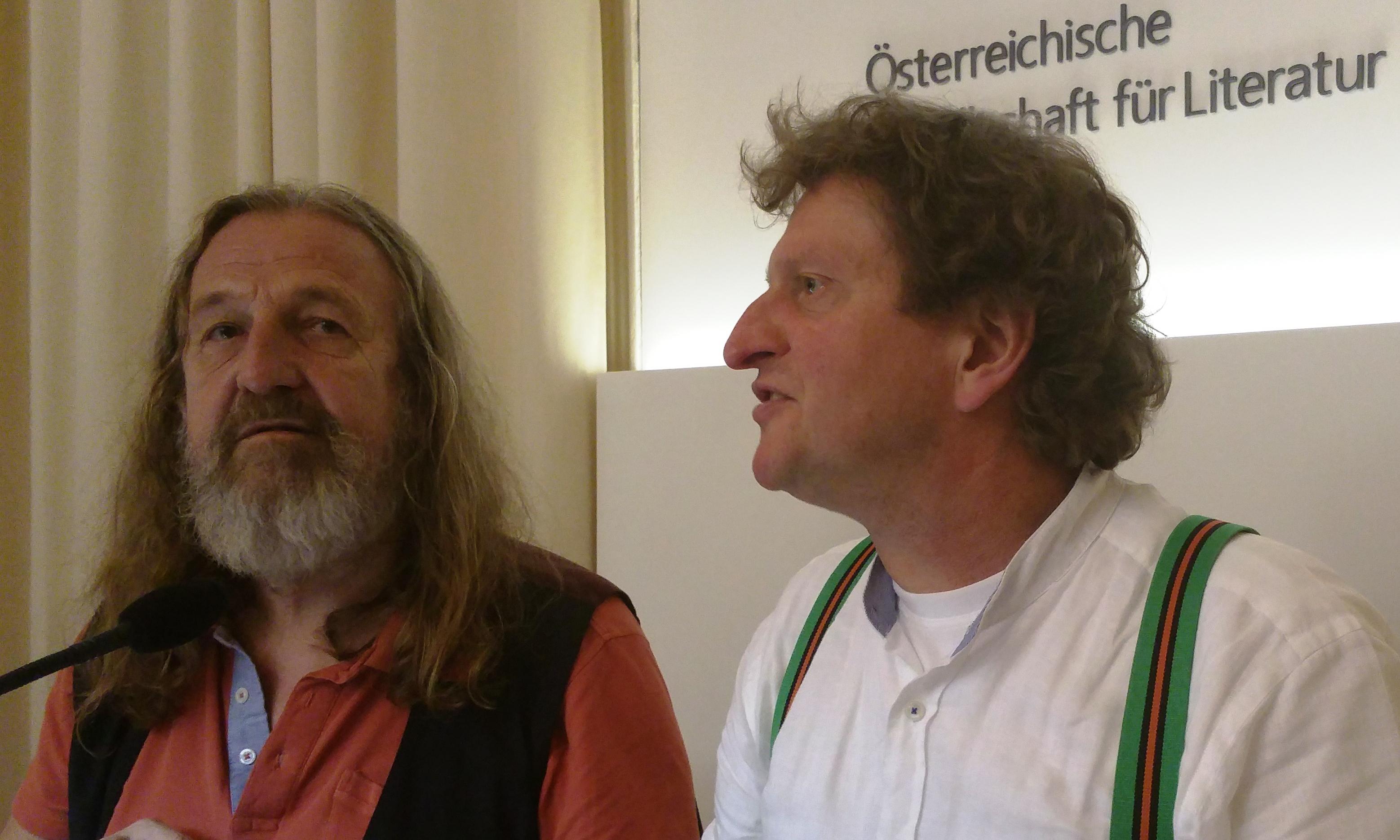 Manfred Chobot und Anton G. Leitner in Wien