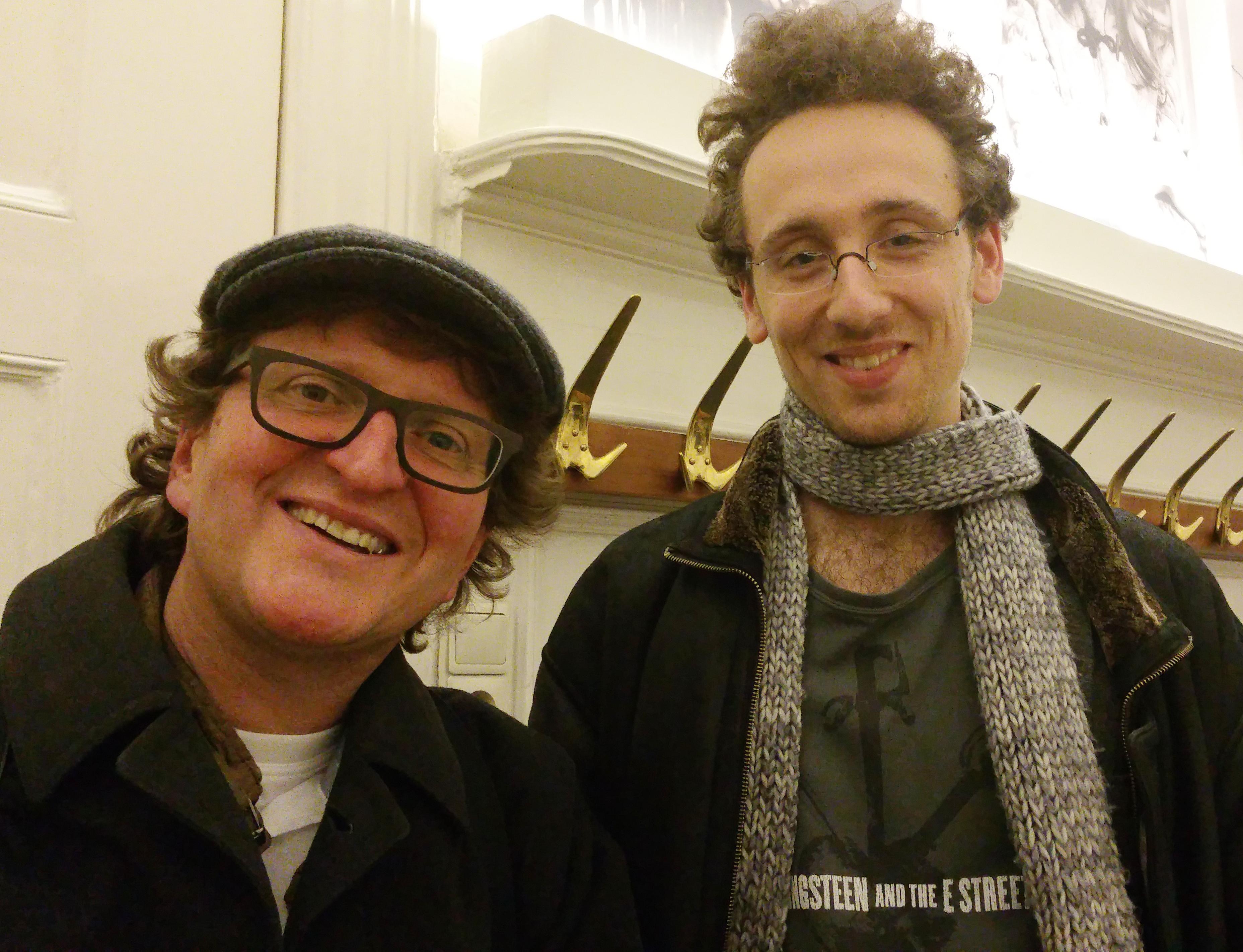 Anton G. Leitner mit dem jungen Autor und DAS GEDICHT blog-Kolumnist Timo Brandt in der ÖGfL