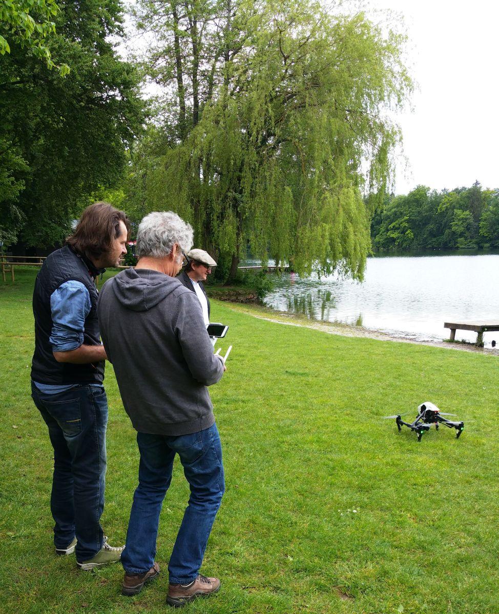 Start der Drohne. Foto: DAS GEDICHT