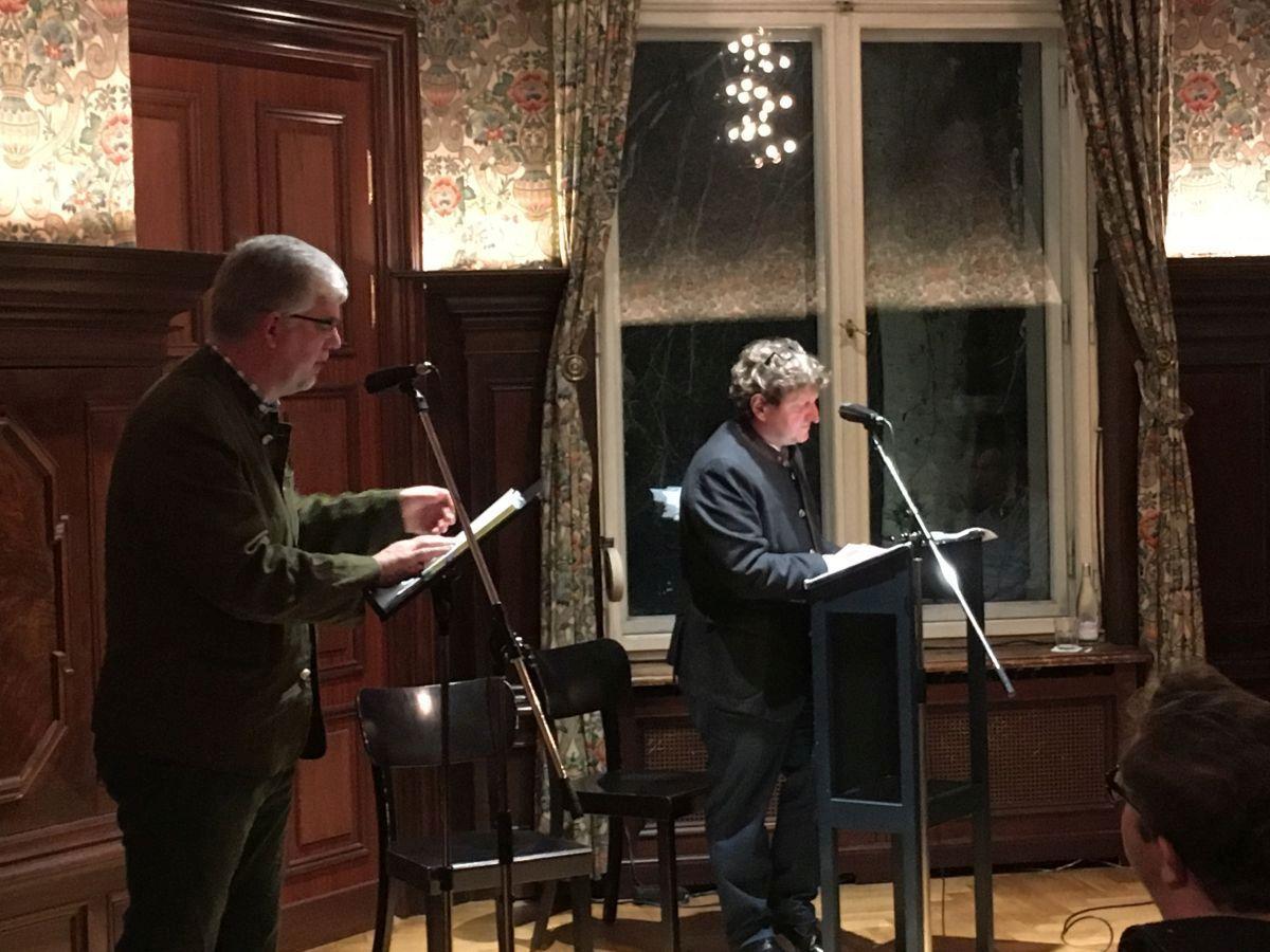 Georg Maria Roers und Anton G. Leitner. Foto: Maja Stieghorst