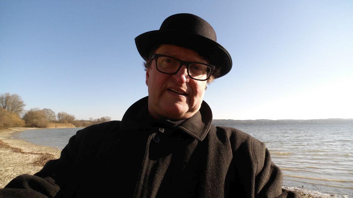 Anton G. Leitner beim Dreh.