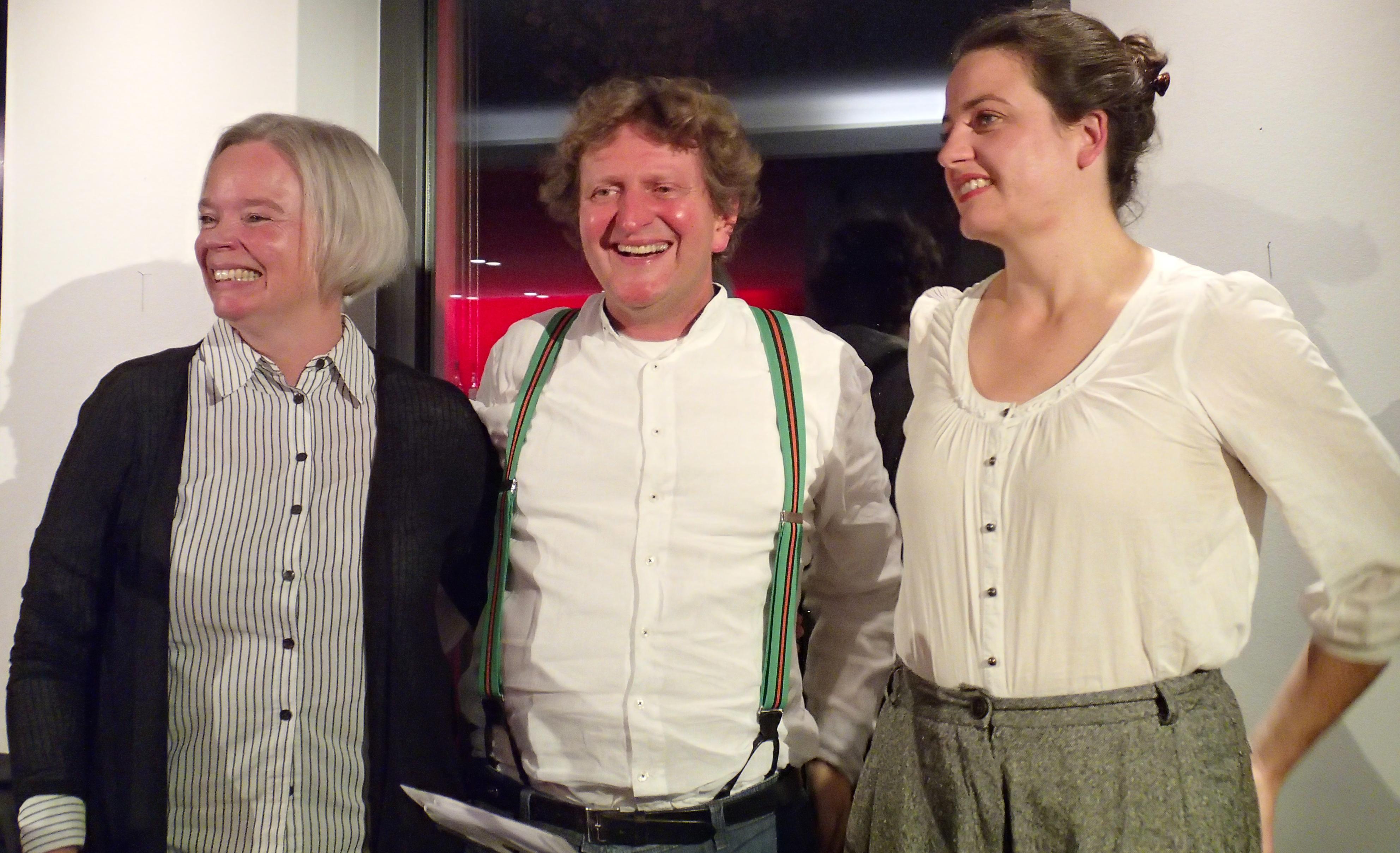 Sabine Zaplin, Anton G. Leitner und Maria Hafner